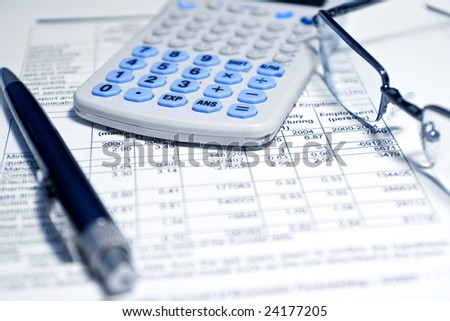 Business concept - closeup view of financial report