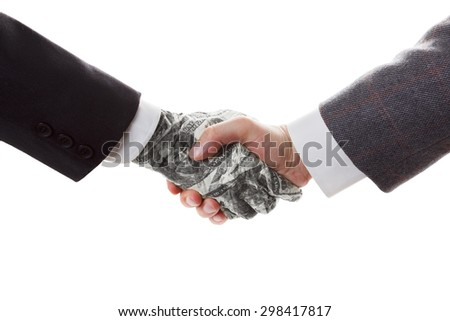 Business concept - Conclusion bargain and contract. The contract with the investor. Partnership.