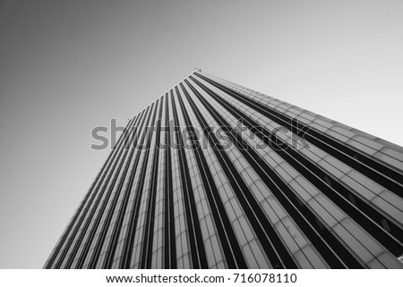 Business concept - corporate shapes of a corporate building in Madrid; #716078110