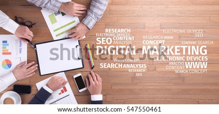 Business Concept: Digital Marketing Word Cloud