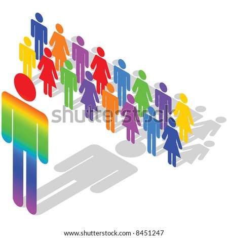 Business Concept - diversity in business, multi-ethnic workforce