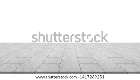 Business concept - empty stone floor top isolated on white background for display or mockup product #1417269251