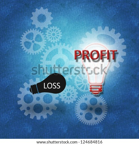 Business concept for success and profit as a result of proper decision making