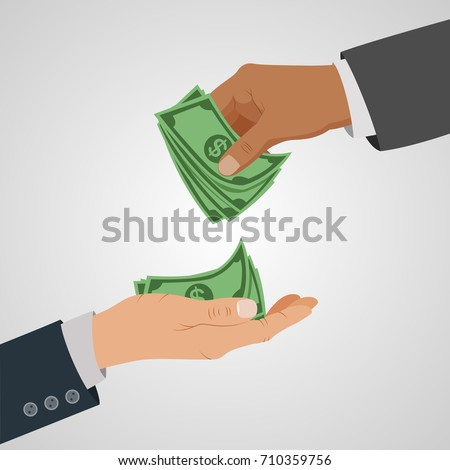Business concept giving money