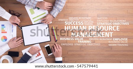 Business Concept: Human Resources Management Word Cloud