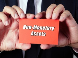 Business concept meaning Non-Monetary Assets with inscription on the piece of paper.