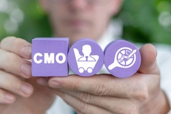 Business concept of CMO Chief Marketing Officer.