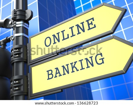 Online Banking Clipart Online Banking Sign on Blue