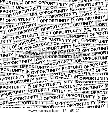 Business Concept Present By Group of Opportunity Label Background
