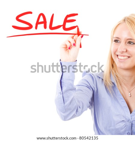 Business concept: sale