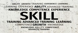 Business Concept: Skill Word Cloud