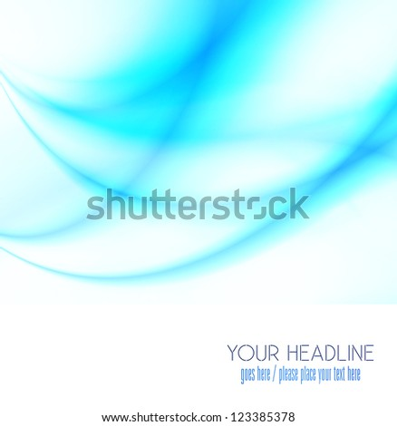 business concept wavy blue cool background - stock photo
