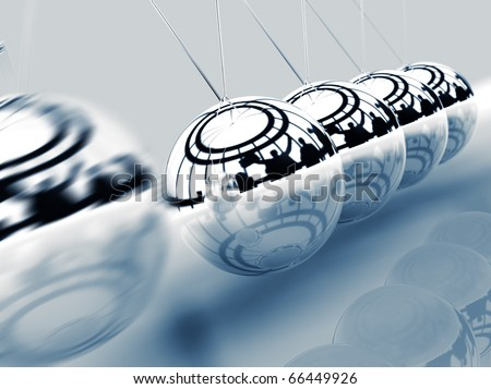 business concept with metal ball rocker