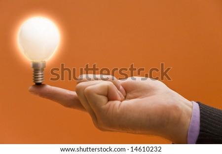Business concepts, bright idea