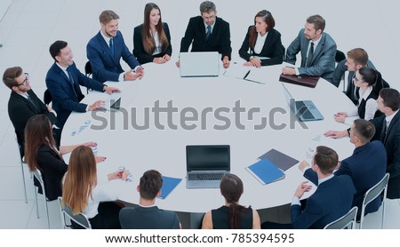 Business conference. Business meeting. Business people in formal