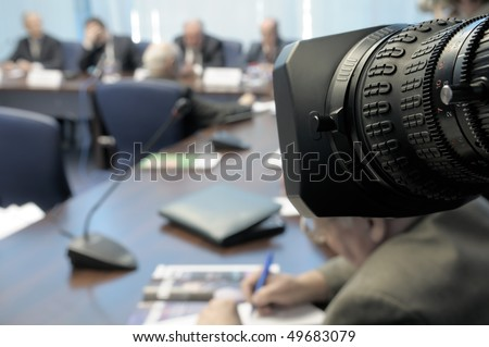 Business Conference under the lens.