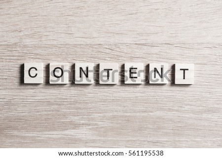 Business content word collected of elements of wooden elements with the letters #561195538