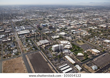 Business, Convention, Arts and Accommodations area of downtown Mesa, Arizona