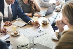Business Corporate Management Planning Team Concept
