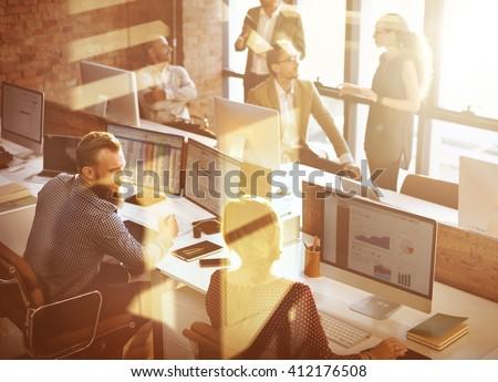 Business Corporation Organization Teamwork Concept #412176508