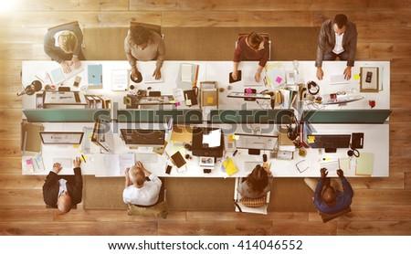 Business Corporation Organization Teamwork Concept