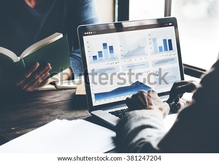 Business Coworking Laptop Finance Partnership Concept