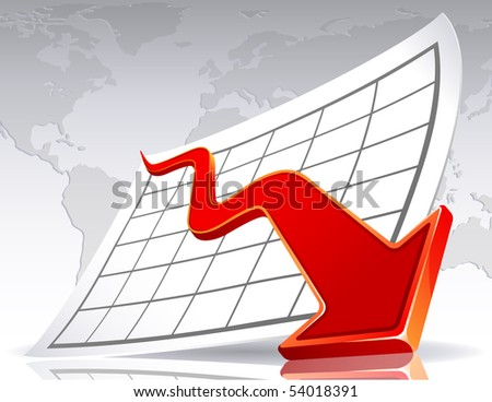 Business crisis diagram - raster version