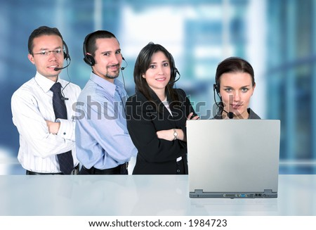 business customer service representatives in an office