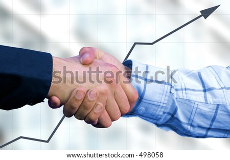 business deal with a graph in the background