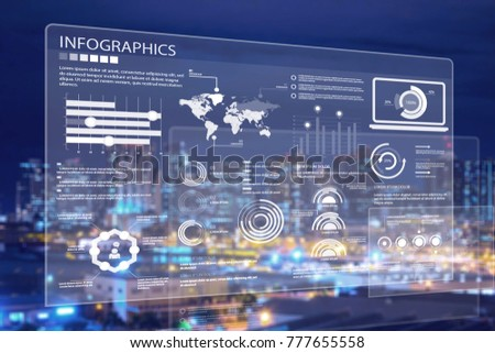 Business digital infographic concept #777655558