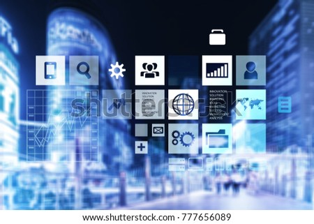 Business digital infographic concept #777656089