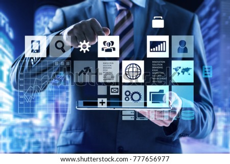 Business digital infographic concept #777656977