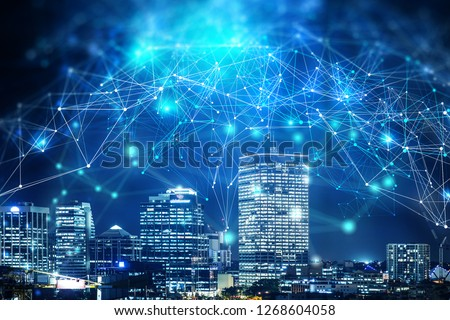 Business district and wireless technologies #1268604058
