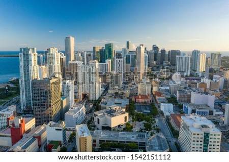 Business district Downtown Miami FL #1542151112