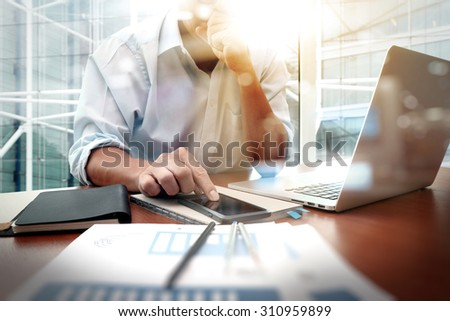 business documents on office...