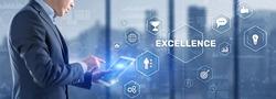 Business Excellence concept. Pursuit of excellence 2021
