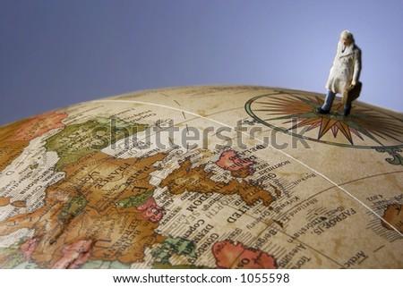 Business Figurines and Globe