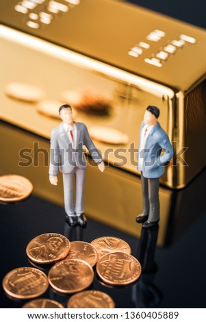 Business finance cooperation #1360405889