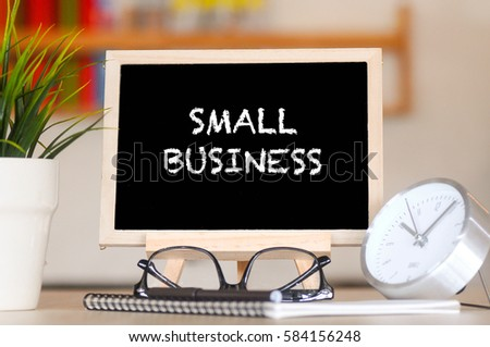 BUSINESS FINANCE OFFICE AND SMALL BUSINESS CONCEPT