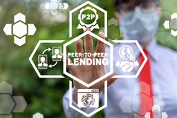 Business finance service concept of P2P Peer-To-Peer Lending.