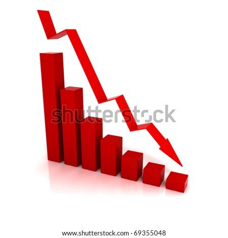 Business Financial Crisis - 3D illustration