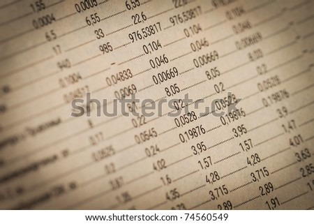 Business financial report. Workplace of the businessman