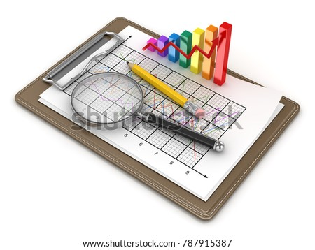 Business Finans Concept , This is a 3d rendered computer generated image. Isolated on white. Imagine de stoc ©