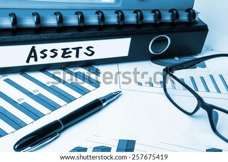 business folder with label assets
