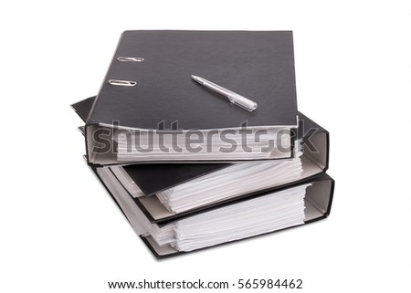 Business folders closeup on a white background #565984462