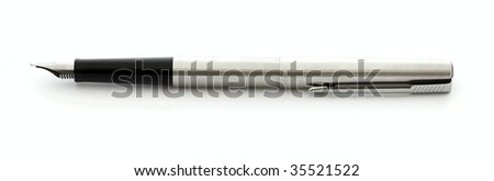business fountain pen isolated on white background