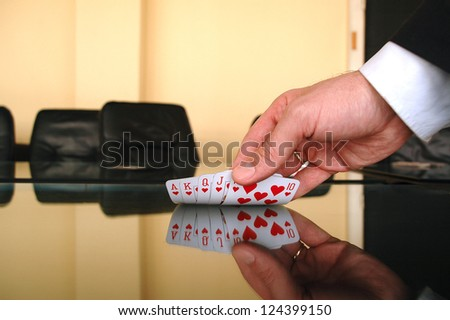 Business gamble , business risk