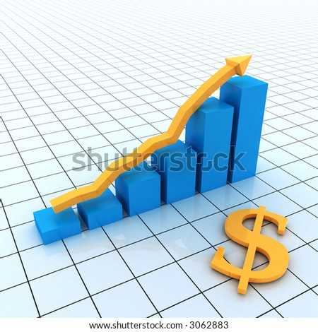 Business Graph with dollar sign