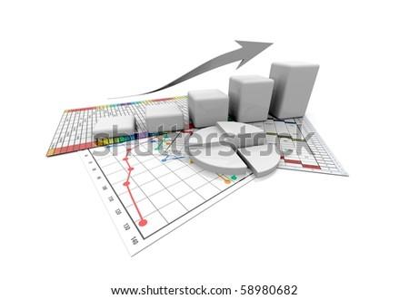 Business graphic, chart, diagramm, bar