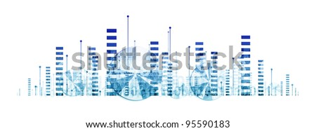 Business graphics and diagrams (abstract illustration on white background)